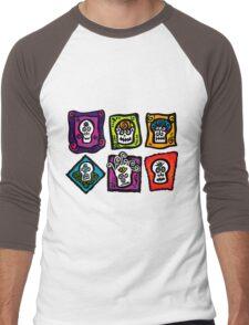 Day of the Dead Sugar Skulls Men's Baseball ¾ T-Shirt
