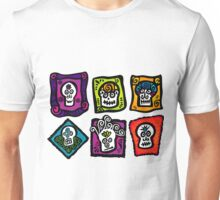 Day of the Dead Sugar Skulls Unisex T-Shirt