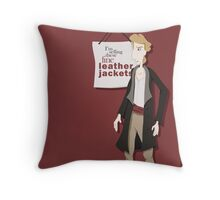 Fine Leather Jackets Throw Pillow