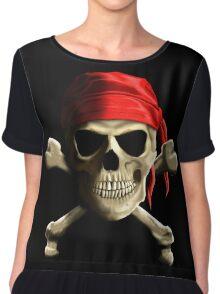 Skull And Crossbones Chiffon Top