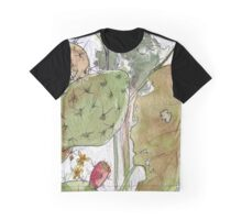 Prickly Pear Cactus and Leaves Graphic T-Shirt
