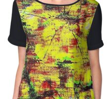 Glitch - Flower - MatchaAlan Chiffon Top