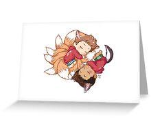 Sleepy Pups Greeting Card