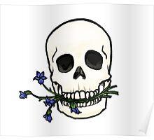 Lavender Skull  Poster