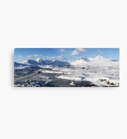 Black Mount Winter Panorama Metal Print