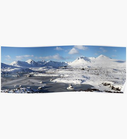 Black Mount Winter Panorama Poster