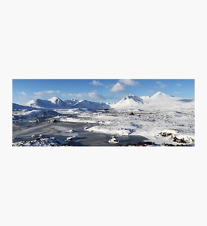 Black Mount Winter Panorama Photographic Print