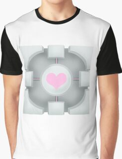 Weighted Companion Cube (Portal 2) Graphic T-Shirt