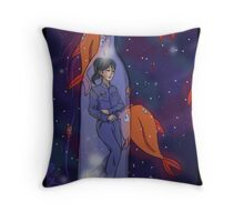 Asleep in a bottle Throw Pillow