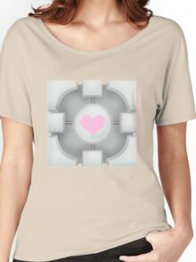 Weighted Companion Cube (Portal 2) Women's Relaxed Fit T-Shirt