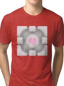 Weighted Companion Cube (Portal 2) Tri-blend T-Shirt