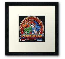 MONSTER TRAINING GAME- POKEMON Framed Print