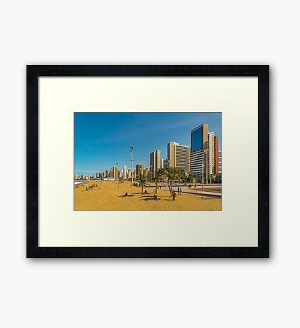 Beach and Buildings of Fortaleza Brazil Framed Print