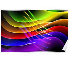 Rainbow Waves Poster
