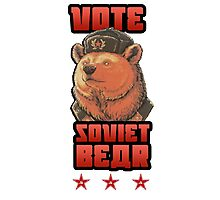 Russia says vote for Soviet Bear Photographic Print