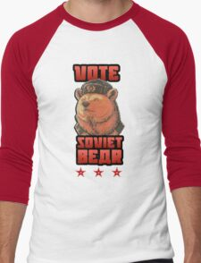 Russia says vote for Soviet Bear Men's Baseball ¾ T-Shirt
