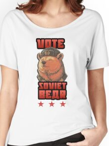 Russia says vote for Soviet Bear Women's Relaxed Fit T-Shirt