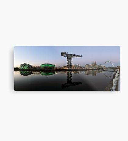Clyde Waterfront After Sunset Metal Print