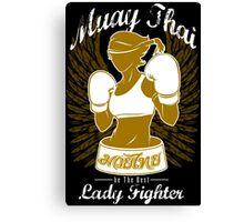 muay thai girl fighting thailand female fighter tshirt hoodie Canvas Print