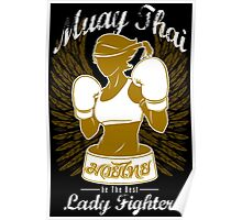 muay thai girl fighting thailand female fighter tshirt hoodie Poster