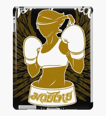 muay thai girl fighting thailand female fighter tshirt hoodie iPad Case/Skin