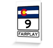 CO-9 Fairplay Colorado Greeting Card