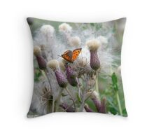Orange Butterfly . Throw Pillow