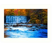 Fall On The Creek At Old Roswell Mill Art Print