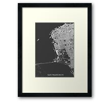 San Francisco in wireframe Framed Print