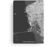 San Francisco in wireframe Metal Print