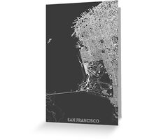 San Francisco in wireframe Greeting Card
