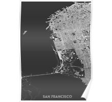 San Francisco in wireframe Poster
