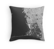 San Francisco in wireframe Throw Pillow