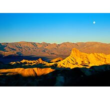 Zabriskie Point at Sunrise Photographic Print
