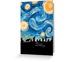 Starry Breakfast Greeting Card
