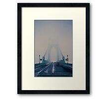 St. Johns Bridge Fog Framed Print