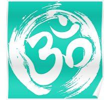 ohm symbol meditation yoga pose gym fitness shirt  Poster
