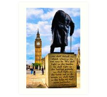 Never Surrender - Winston Churchill's Legacy Art Print