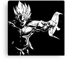 Goku Squat Canvas Print