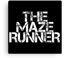 The Maze Runner (White) Canvas Print