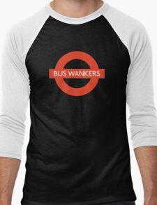 Bus Wankers! The Inbetweeners  Men's Baseball ¾ T-Shirt