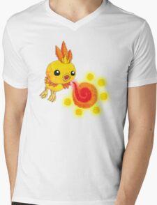 shiny torchic Mens V-Neck T-Shirt