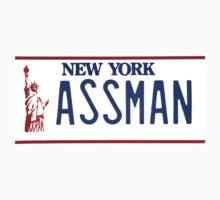 Cosmo Kramer Seinfeld Assman New York NY plate by datthomas