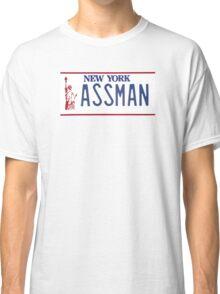 Cosmo Kramer Seinfeld Assman New York NY plate Classic T-Shirt