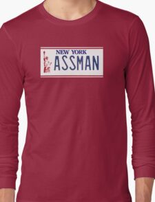 Cosmo Kramer Seinfeld Assman New York NY plate Long Sleeve T-Shirt