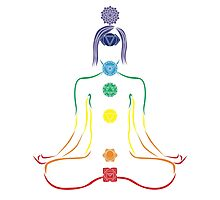The Seven Chakras in Meditation Photographic Print