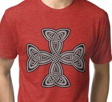Celtic cross,black and white,christ,christian,jesus,faith,spirituality,antiqued Tri-blend T-Shirt