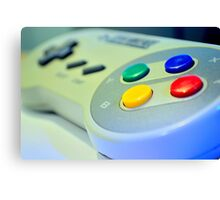 SNES Game Pad Canvas Print