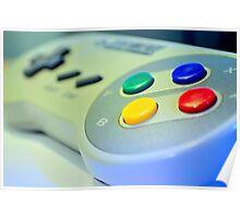 SNES Game Pad Poster