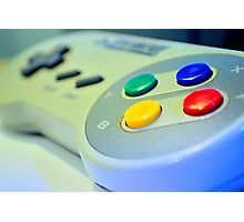 SNES Game Pad Photographic Print